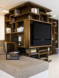 Tv Stand Cabinet Design Furniture Unique Wooden Bookshelves Design With Tv Stand Ideas