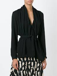 belted blouse lyst etro belted blouse in black