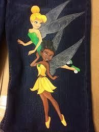 custom hand painted tinkerbell fairies jeans choice