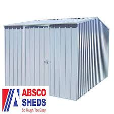 Absco Awning Absco 2 26m X 3m Titanium Easy Build Metal Shed Waltons Sheds