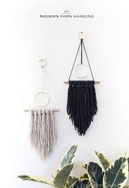 hanging pictures ideas diy modern yarn hanging homey oh my
