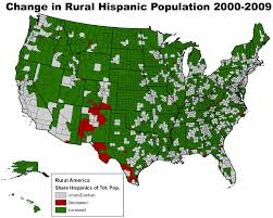 Map Of New Mexico And Texas by Rural America In The 2000s Population Daily Yonder