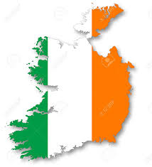 Flag Of Ireland Map And Flag Of Ireland Stock Photo Picture And Royalty Free