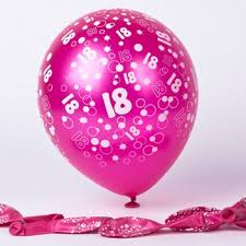 balloons for 18th birthday 18th birthday balloons from 99p card factory