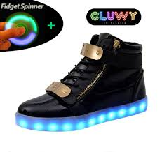 gold light up sneakers light up shoes led black and gold cool mania