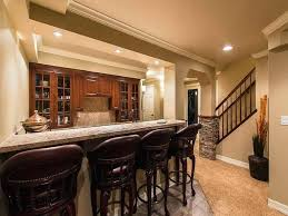 Basement Kitchen Ideas Basement Bar Backsplash Beige Tile Modern Rustic Kitchen