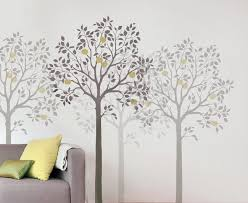 large wall stencils for painting home decor ideas fantastic image large wall stencils trees