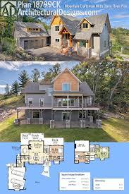 2200 sq ft house plans plan 18799ck mountain craftsman with open floor plan craftsman