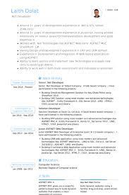Database Developer Resume Sample by Asp Net Resume Template C Developer Resume 9152 16 Best Resume