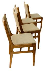 Teak Dining Chair Vintage D Scan Danish Teak Dining Chairs Four