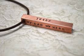 Bar Necklace Personalized Copper Bar Necklace Personalized Hand Stamped Bar Necklace For Men