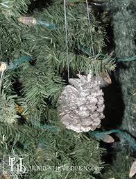sparkling pinecone ornaments