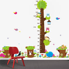 Kids Room Wall Stickers by Cd003 Cartoon Jungle Animals Children Height Measure Wall Stickers
