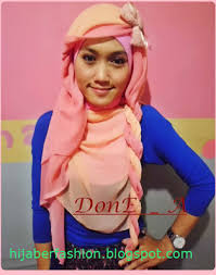 tutorial jilbab dua jilbab cara memakai jilbab paris dua warna cara memakai jilbab fashion
