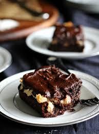 triple layer chocolate coconut macaroon cake paleo