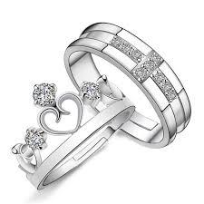 buy rings cheap images Js cheap korean 925 silver king queen princess couple crown shaped jpg