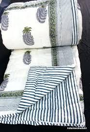 Indian Print Duvet Block Print Quilts U2013 Co Nnect Me