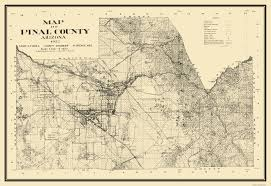 Montana Land Ownership Maps by Old County Map Pinal Arizona Landowner 1932