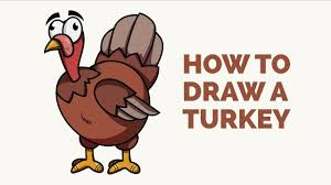 how to draw a turkey easy step by step drawing tutorial