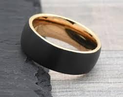 mens wedding bands black mens wedding band etsy