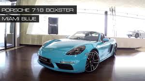 miami blue porsche boxster รถปอร เช pcg by nk porsche 718 boxster ส miami blue ท ส ดของ