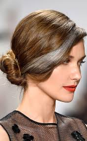 hairstyles with grey streaks carmen marc valvo from nyfw spring 2015 hair trends we re loving