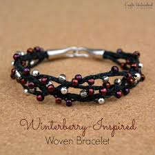 bracelet with beads images Woven bracelet tutorial winterberry beads crafts unleashed jpg