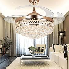 Remote Controlled Chandelier Colorled Modern Crystal Remote Control Transparent Acrylic Blade