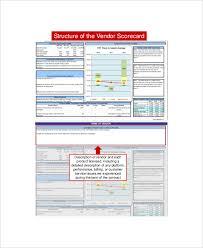 Supplier Scorecard Template Excel 8 Vendor Scorecard Templates Free Sle Exle Format
