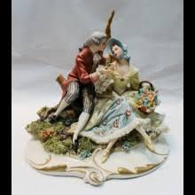 Capodimonte Tramp On A Bench Porcelain U0026 Pottery