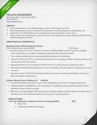 Sample Profiles For Resumes by Nursing Resume Sample U0026 Writing Guide Resume Genius