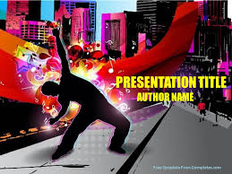 youth music powerpoint template demplates