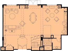 Hotel Suite Floor Plan Luxury Orlando Meeting U0026 Convention Hotel Hospitality Suite