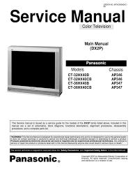 service manual panasonic ct32hx40b electrical connector resistor