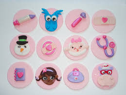 doc mcstuffins cupcake toppers 12 sparkly fondant doc mcstuffins inspired cupcake toppers
