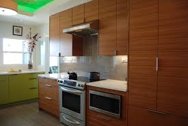 ikea kitchen cabinets with semihandmade bamboo fronts