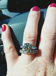 3 engagement ring 3 carat engagement ring with baguette shoulders
