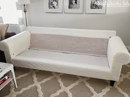 Slipcover Sofa Pottery Barn by Furniture Get A Modernized Look For Your Ikea Ektorp Slipcover