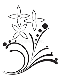 flowers tribal tattoo stock illustration image of background