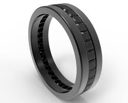 men in black wedding band black diamond wedding band for him in black gold vidar jewelry