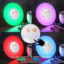 alarm clock that wakes you up in light sleep 2018 sunrise led colorful alarm clock wake up night light with