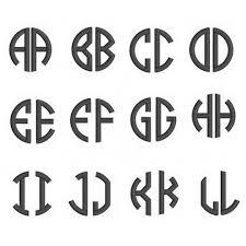 3 letter monogram letter circle monogram machine embroidery font satin stitch 1 2 3 inch