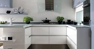 cuisine en u avec ilot cuisine contemporaine en stratifié en u avec îlot stockholm