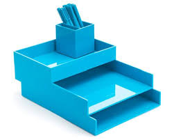 Blue Desk Accessories Poppin Pool Blue Desktop Accessories