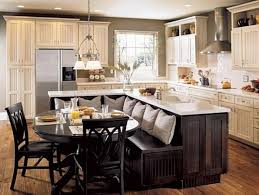 Island Bench Kitchen Inspiring Rustic Black White Kitchen Island Table Combination With Bench Jpg