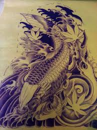koi fish half sleeve design by adam sky gold s
