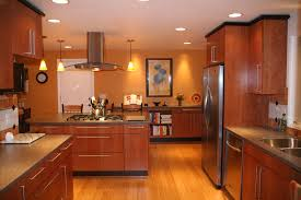 Kitchen Design Principles Balance Scale Amp Focus In Kitchens - kitchen remodel using bamboo flooring cherry cabinetry corian