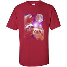 Sloth Meme Shirt - sloth shirt three wolves moon parody meme shirt bjorn tees