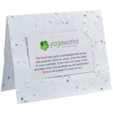 plantable paper seed paper business card holders custom plantable holders