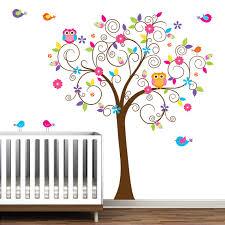 stickers chambre bébé mixte bébé crèche arbre mur sticker mural autocollant arbre mur